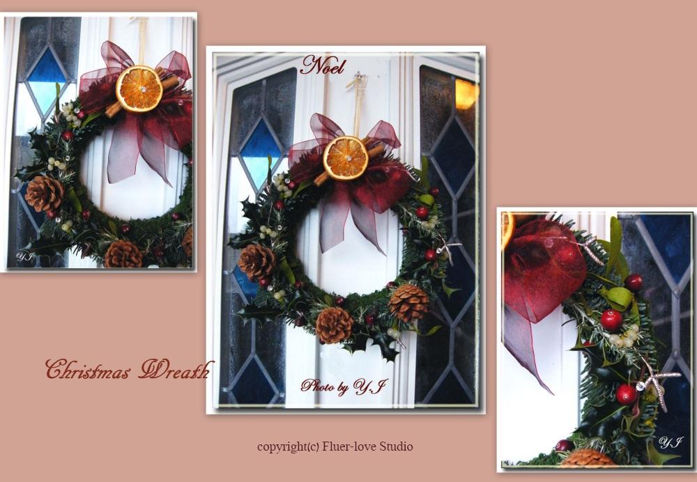 Christmas Wreath with Mistletoe