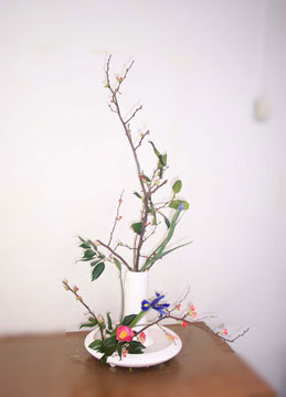 小原流花意匠; 装い 冬の生花