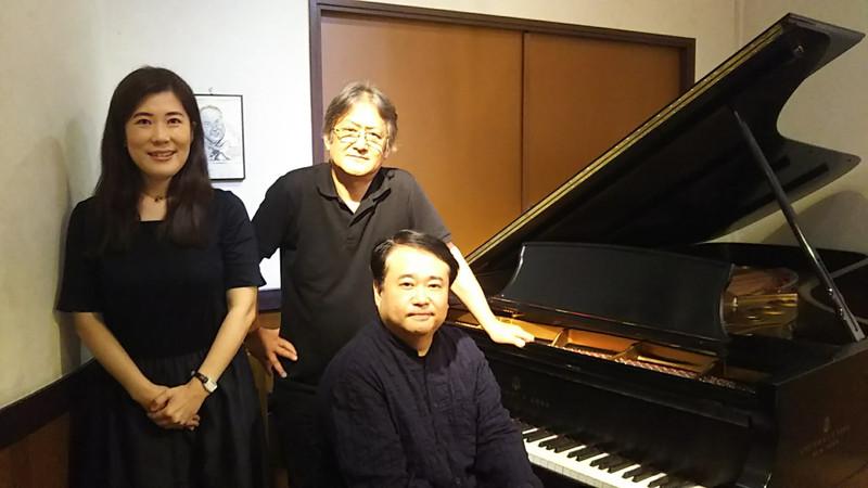 髙木社長、樋口あゆ子さんと タカギクラヴィアにて