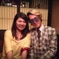 新宿で友人と