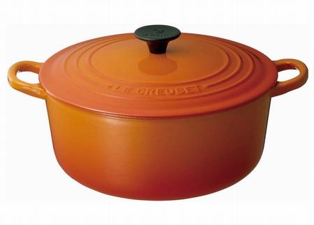 LE CREUSET ココット・ロンド 18cm オレンジ
