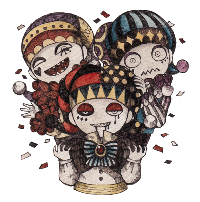 3人の道化師
