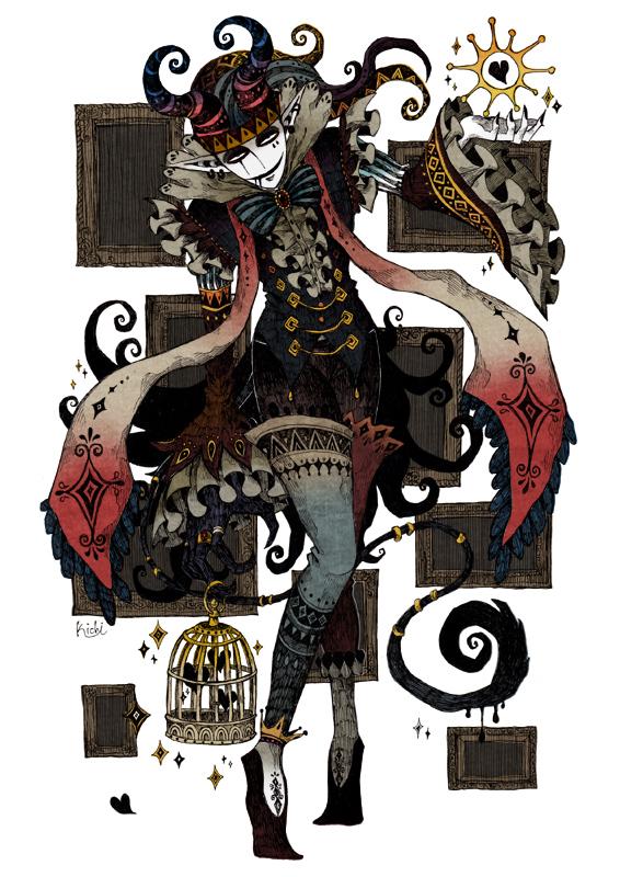 巻き角の悪魔