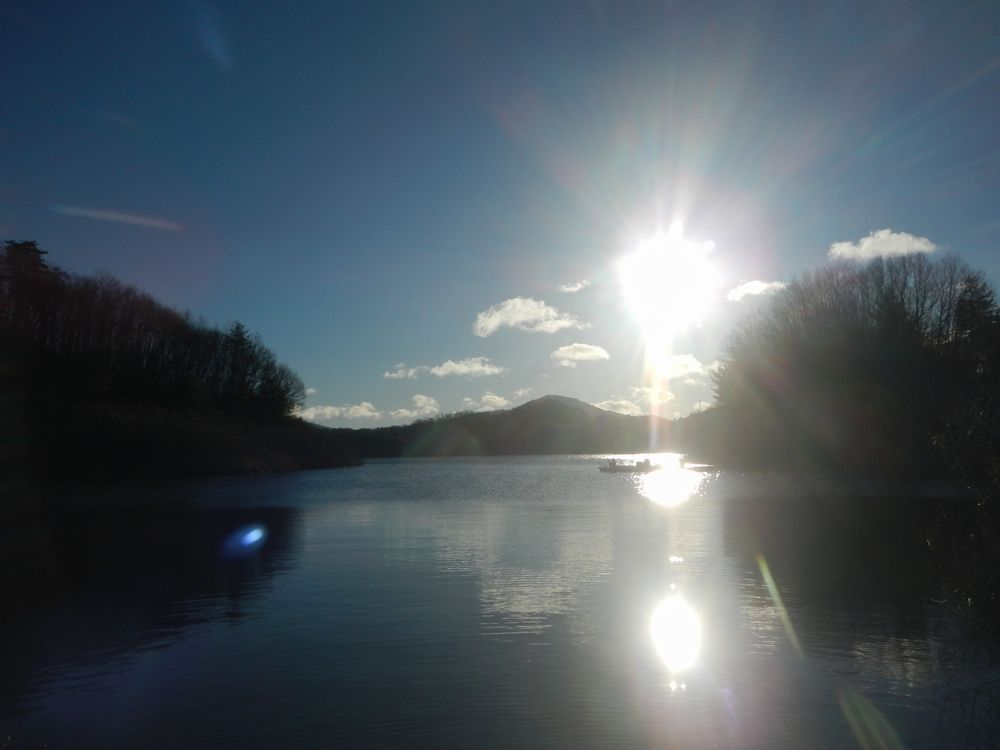20201231_三春ダムの大晦日の日の出