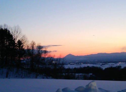 三月の恵庭岳