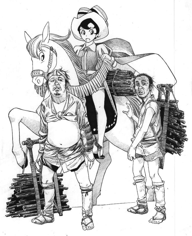 「リボンの騎士」よりサファイア 「隠し砦の三悪人」より 太平(千秋実) 又七(藤原釜足)