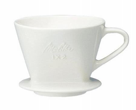 Melitta 陶器フィルター 【2~4杯用】 オフホワイト メジャースプーン付 SF-T 1×2